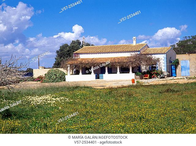 Traditional country house. Formentera island, Balearic Islands, Spain