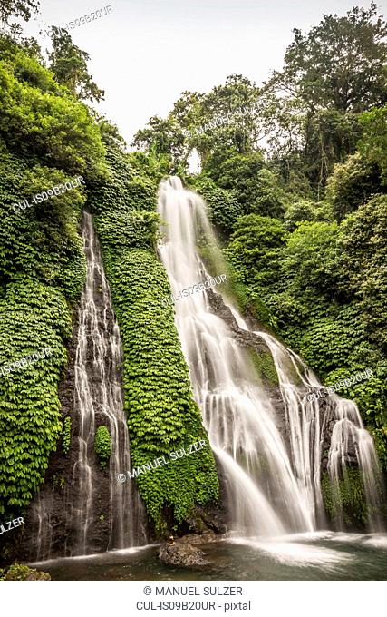 Rainforest waterfall, Wana Giri, Bali, Indonesia
