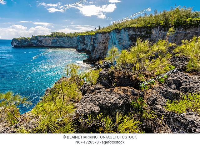 Warrior's Leap cliffs, Island of Mare, Loyalty Islands, New Caledonia