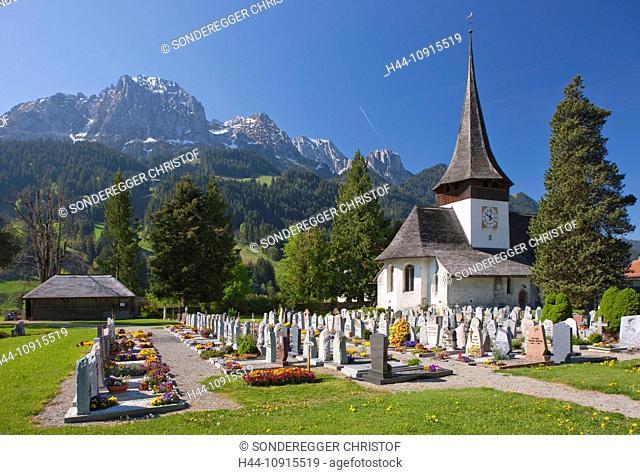 Canton, Vaud, Waadt, Switzerland, Europe, church, religion, cloister, Rougement, cemetery