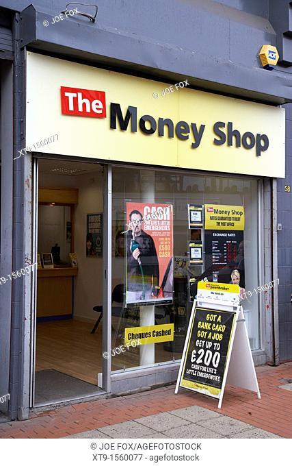 the money shop payday loans cash centre belfast city centre northern ireland uk