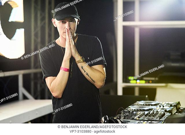 DJ Coone performing at music festival Starbeach Chersonissos, on 02. August 2018
