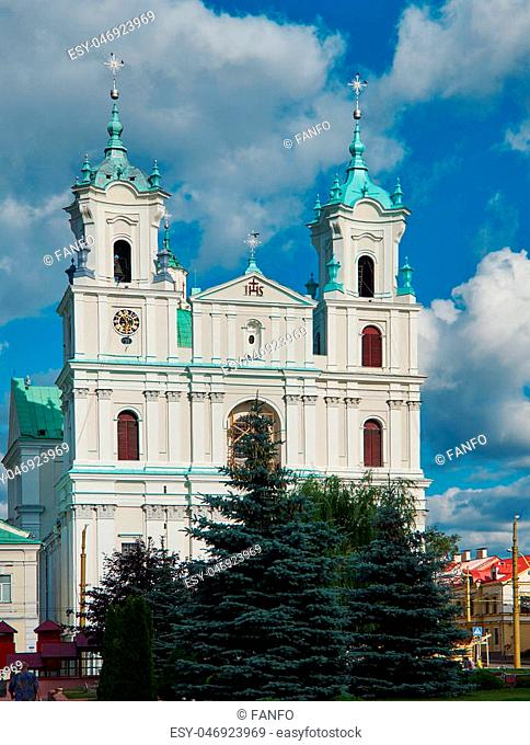 The Cathedral Of St Francis Xavier in City Center in Grodno. Belarus