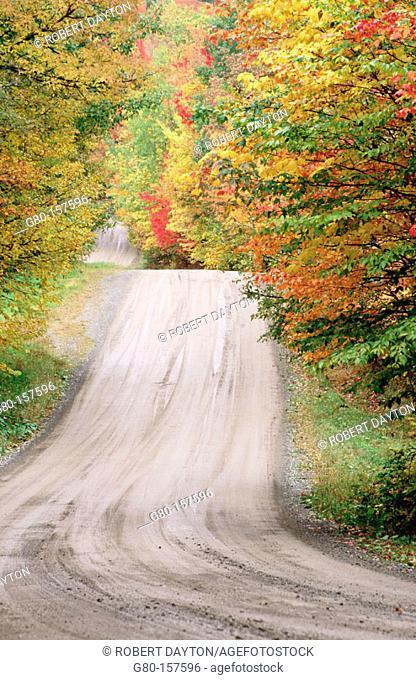 Rural road. Vermont. USA