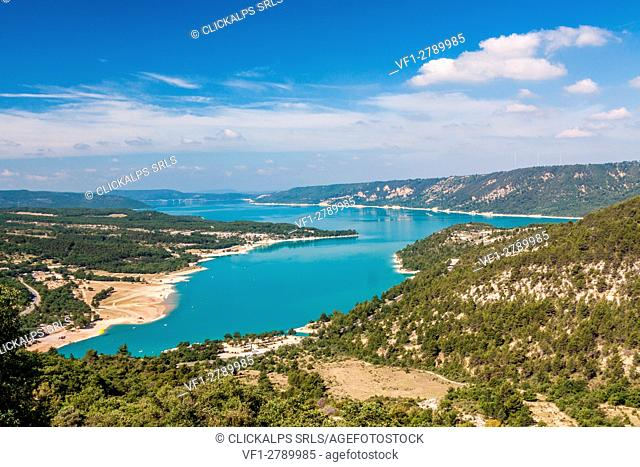 France, Alpes de Haute Provence, Parc Naturel Regional du Verdon (Natural Regional Park of Verdon), Sainte Croix Lake