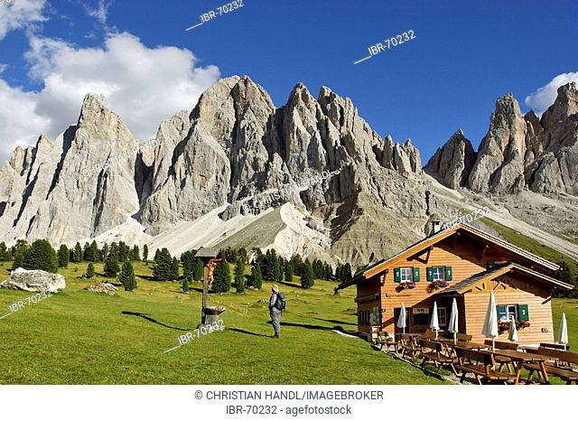 Gschnagenhardt alp and Geisler mountain range South Tyrol Italy