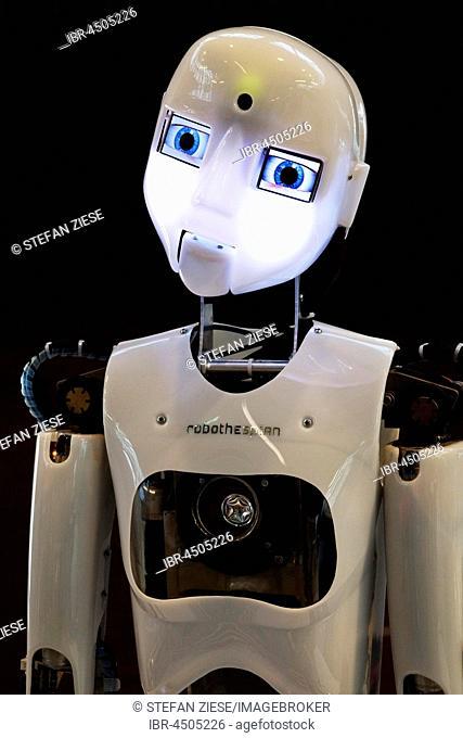 Humanoid robot RoboThespian, Employment Issues exhibition Arbeitswelt Ausstellung DASA, Dortmund, Ruhr district, North Rhine-Westphalia, Germany