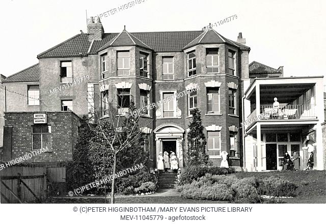 Bristol Maternity Hospital, Southwell Street Bristol. Staff and patients can be seen. The building previously housed the Carlton House Industrial School for...