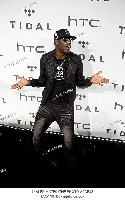 Young Dro arrives at the Barclays Center to perform at the Tidal X:1020 benefit concert on October 20th, 2015 in Brooklyn, New York
