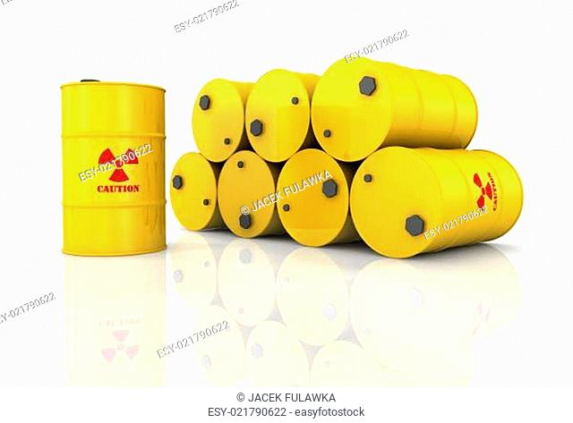 Stack Of Radioactive Barrels