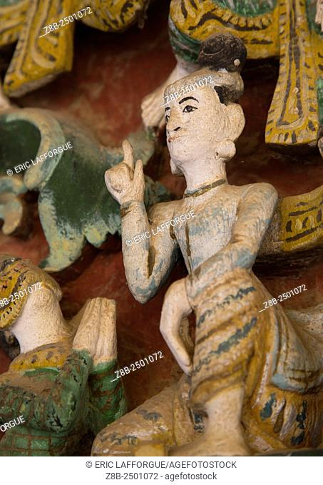 Statue In Shwe Zigon Paya Golden Temple, Bagab, Myanmar