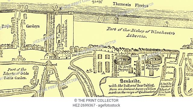 'Plan of Bankside, Early in the Seventeenth Century', (c1878). Creator: Unknown