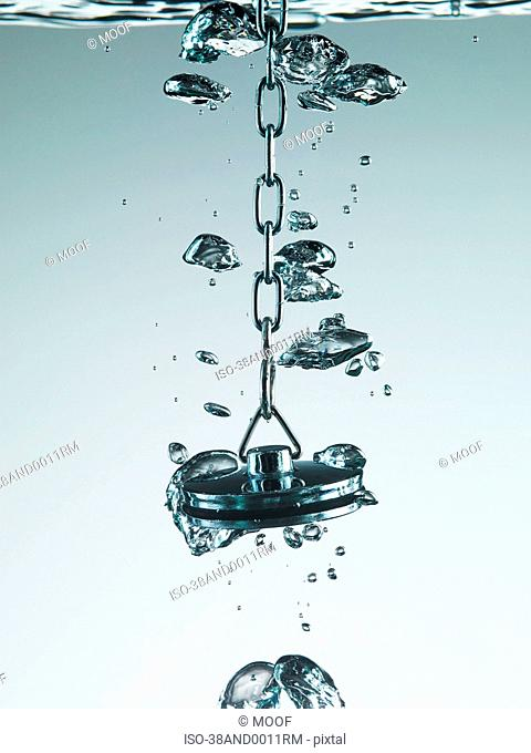 Plug bubbling in water