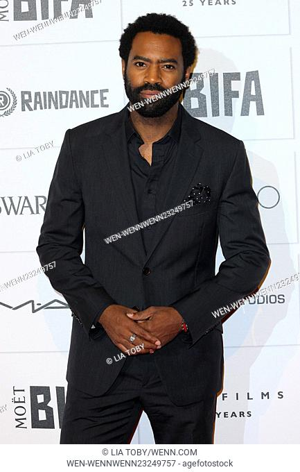 Moet British Independent Film Awards 2015 held at Old Billingsgate Market - Arrivals Featuring: Nicholas Pinnock Where: London