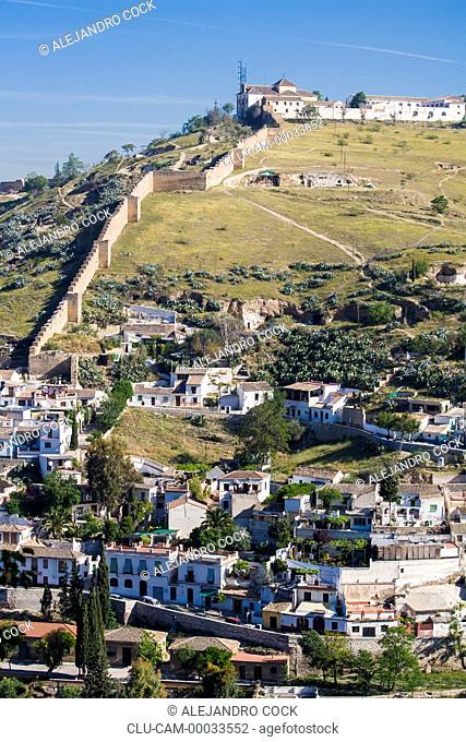 Ziri Wall, Granada, Andalusia, Spain, Europe