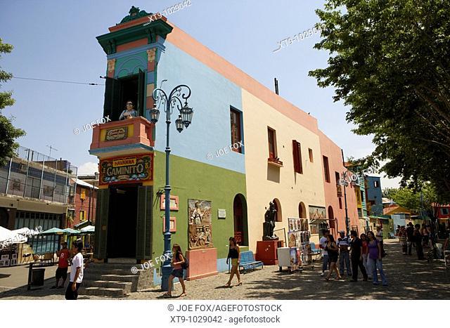 havanna building in caminito street la boca capital federal buenos aires republic of argentina south america