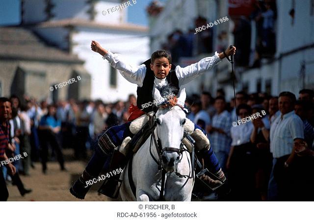 People at Riders Festival on Easter Monday Arroyo de la Luz Estremadura Spain