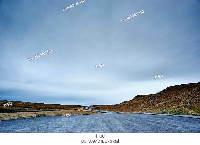 Road near Gullfoss, Iceland