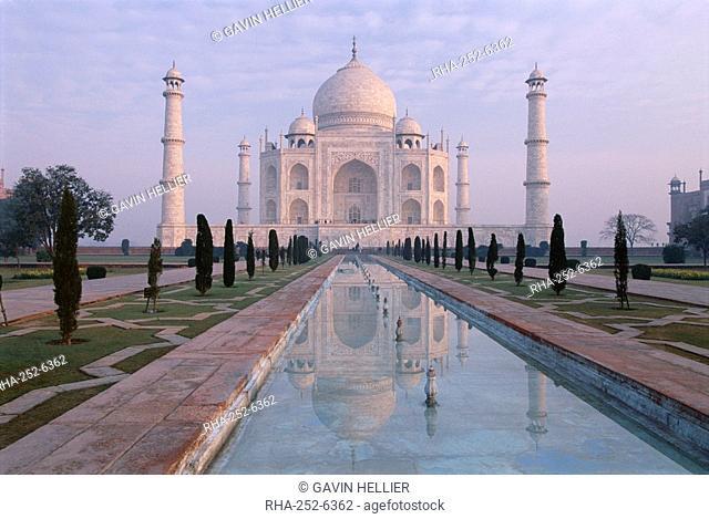 The Taj Mahal, UNESCO World Heritage Site, Agra, Uttar Pradesh state, India, Asia