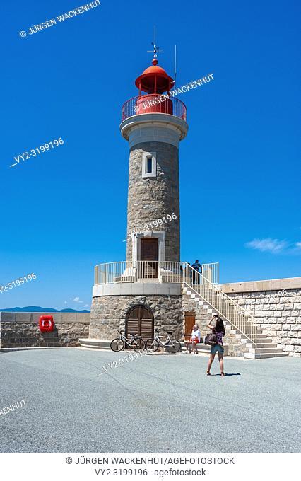 Lighthouse, Saint-Tropez, Var, Provence-Alpes-Cote d`Azur, France, Europe