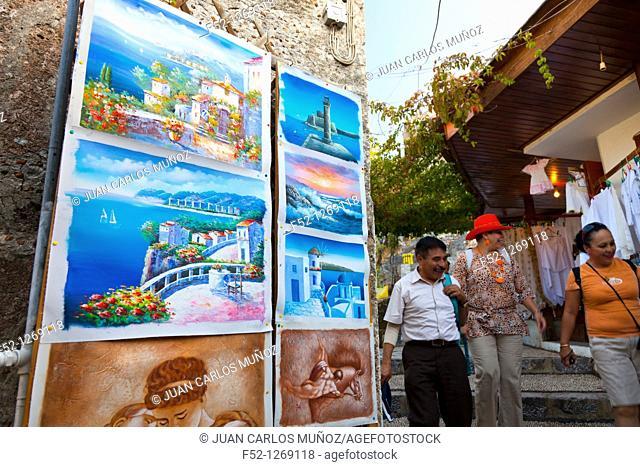 Village of Lindos, Rhodes Island, Dodecaneso, Greece