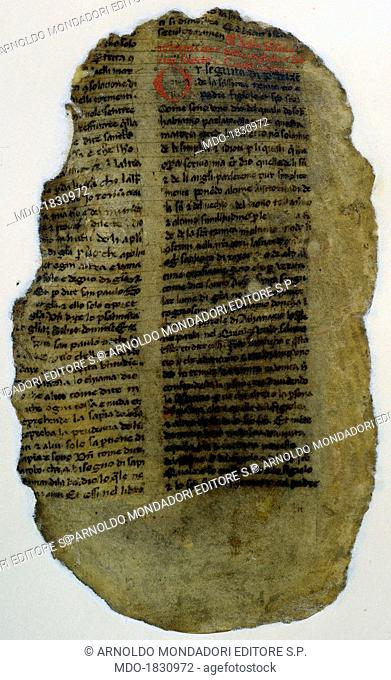 Palimpsest page, by Unknown Artist, 9th - 10th Century, manuscript. Italy, Piedmont, Turin, National University Library. Detail
