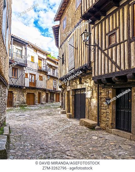 Calle típical. La Alberca. Sierra de Francia. Salamanca. Castilla León. España