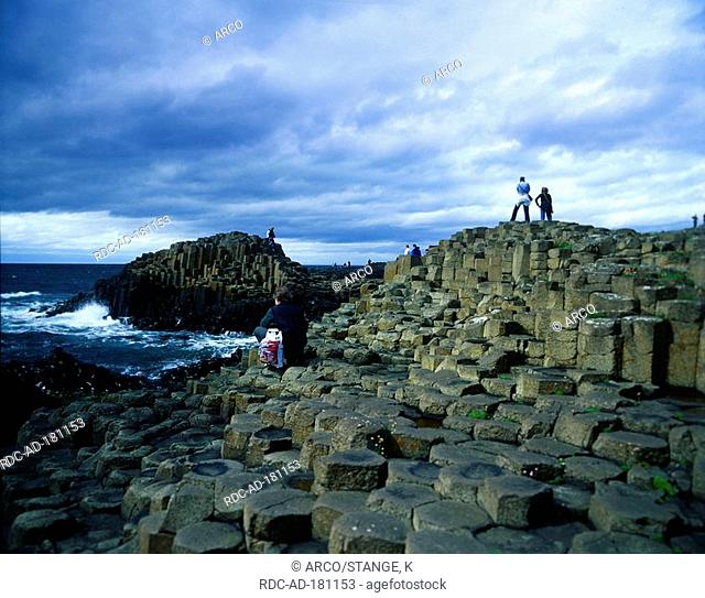 Basalt columns Giant Causeway, County Antrim, Northern Ireland, Great Britain, Giant's Cusewaf