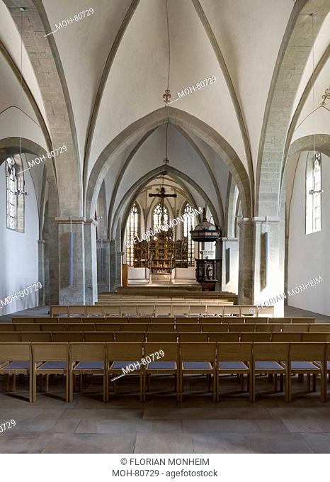 Schwerte, Kirche St. Viktor, Innenraum nach Osten