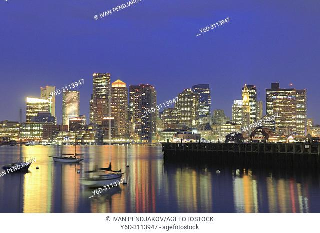 Boston in the Evening, Massachusetts, USA