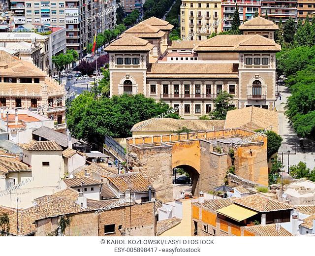 Cityscape of Granada - beautiful city in Andalusia, Spain