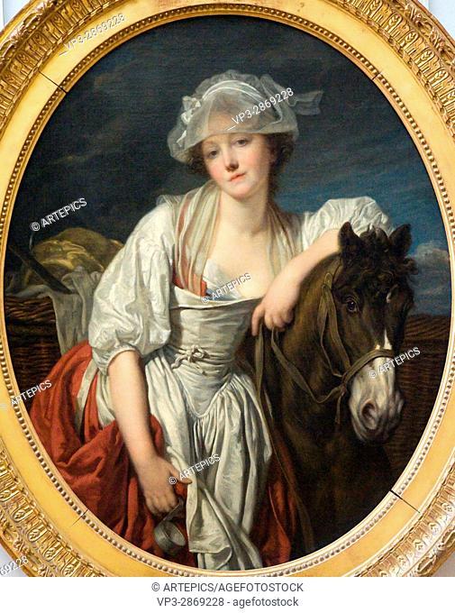 Jean-Baptiste Greuze. La laitière - The Dairy. 1771.