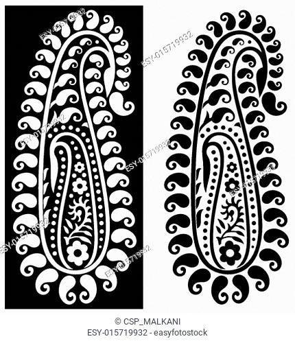 Ornamental paisley design