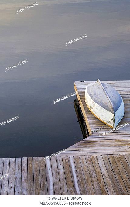 USA, Massachusetts, Cape Ann, Gloucester, Annisquam, Lobster Cove, autumn