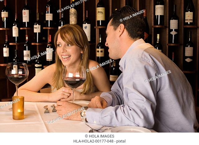 Couple on dinner date
