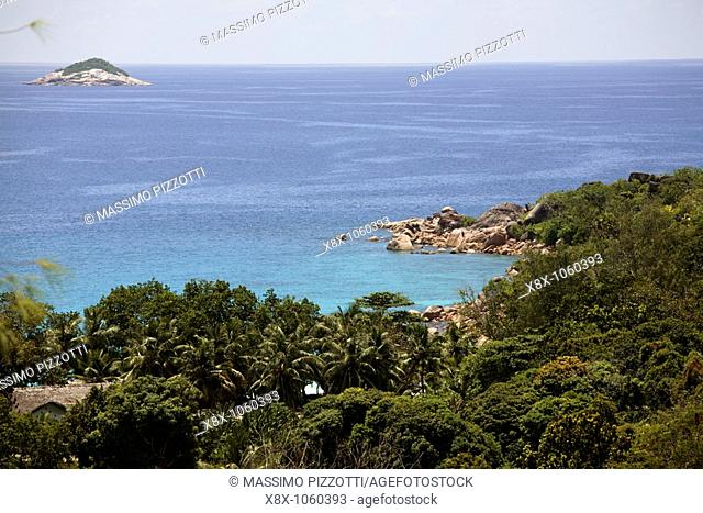 Coastline of Praslin island, Seychelles