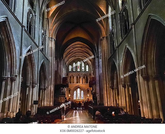 Inside Saint Patrickâ. . s Cathedral, Dublin, Ireland, Europe