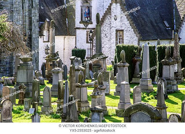 cemetery near Stirling Castle, Scotland