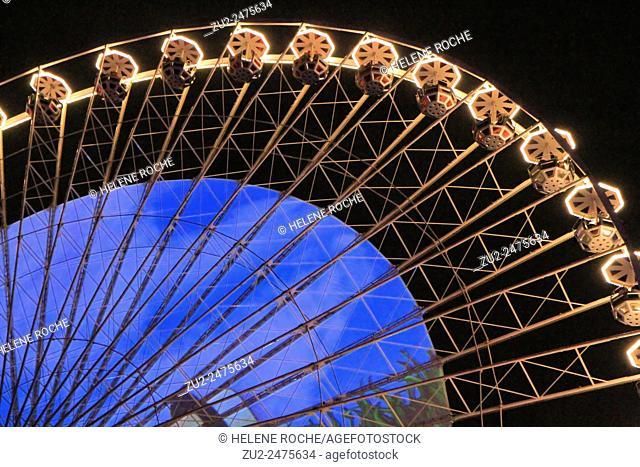 Festival of lights, place Bellecour, Lyon, France