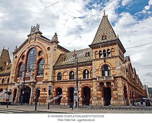Central Market exterior  Budapest, Hungary