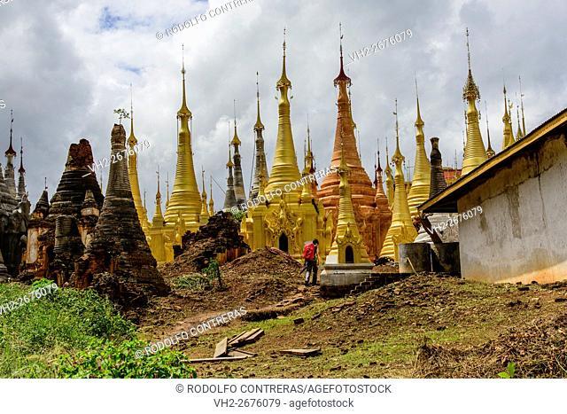 Indein pagodas, Myanmar