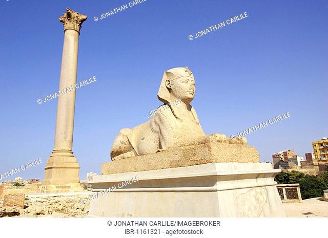 Pompey's Pillar, Alexandria, Egypt, Africa