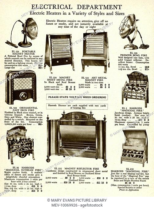 Electric heaters in a variety of styles and sizes, to suit