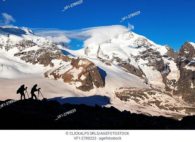 Bernina group, Rhaetian Alps, Engadine, Switzerland