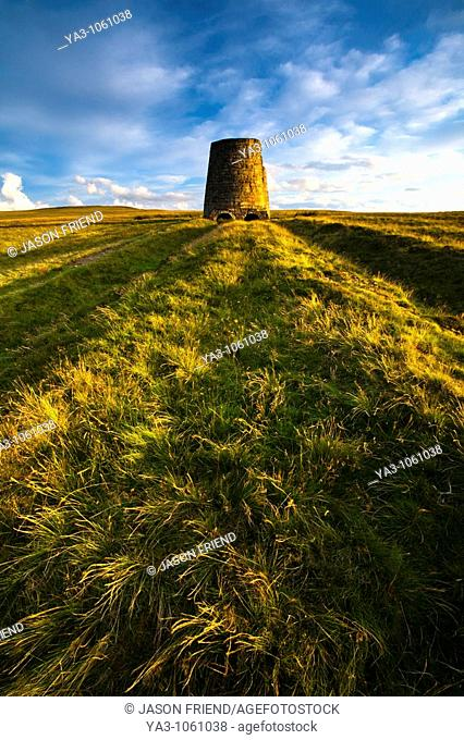 England, Northumberland, North Pennines  The remains of an old smelting flue on Dryburn Moor near Allendale