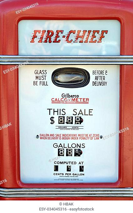 Vintage gas pump Stock Photos and Images | age fotostock