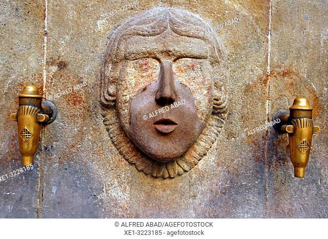 Font de Sant Just (fountain), Gothic Quarter, Barcelona, Catalonia, Spain