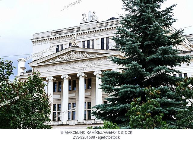 Latvian National Opera House. Riga, Latvia, Baltic states, Europe