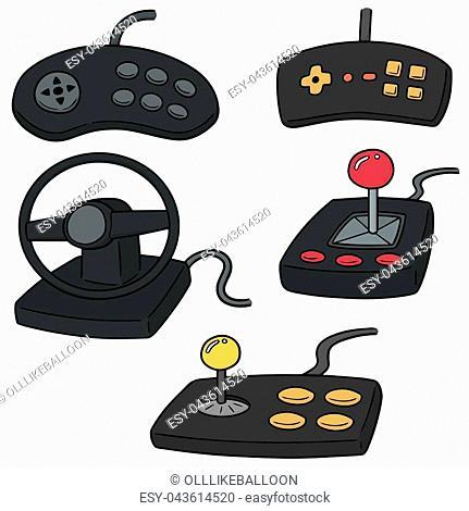 vector set of game controller