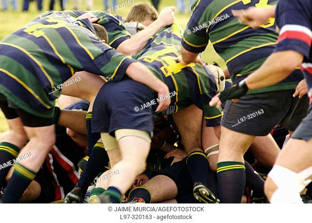 Melbourne rugby team playing